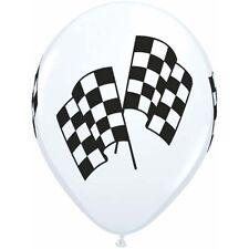 Party Supplies Birthday Boys Car 28 cm Check Racing Flag Latex Balloons Pk10