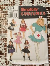Simplicity Sewing Pattern 8851 Costumes Misses Sexy Nurse Western Maid etc
