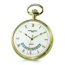 Charles Hubert Gold Finish White Dial Gold Pocket Watch XWA840
