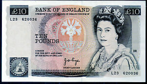 Real bank of england £10 ten pound banknotes 1975 1980 1984 1987 1988 Series D
