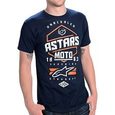 ALPINESTARS HEXLOCK T-SHIRT Navy Blue MENS S - XL  NEW