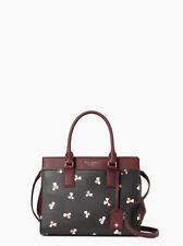 Kate Spade New York Cameron Dusk Buds Ditsy Medium Satchel in Black Multi