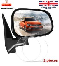 Rearview Mirror Film Rainproof Anti Fog Shield Protective Rain Mist Sticker 2pcs
