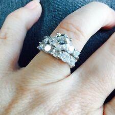 Rare And Stunning 2.78 Tw Platinum Scott Kay Engagement Wedding Set