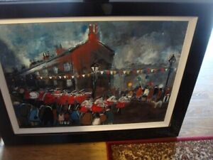MALCOLM TEASDALE 'THE BIG DAY OUT'.LTD EDT LARGE GICLEE ON BOARD FRAMED