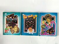Vintage 1981 Donkey Kong Ms Pac Man Mario Peach Lot Spiral Notebook Lined Paper