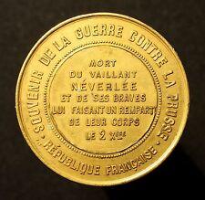 Geschichtsmedaille Guerre contre la Prusse 1870/71, Ermordung Néverlée, RR!