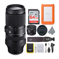 Sigma 100-400mm f/5-6.3 DG DN OS Lens for Sony E-Mount and 1TB HDD Bundle