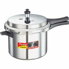 Prestige Popular Plus Induction Base Aluminium Pressure Cooker 5 Ltr Outer Lid