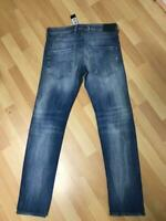 NWD Mens Diesel BELTHER Stretch RIP Denim 084QP Blue Slim W30 L32 H6 RRP£160