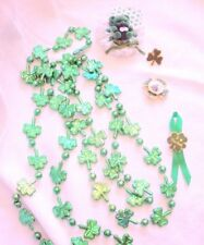 Lot Of St Patrick'S Day Irish Pins Brooches Necklace Shamrock Green