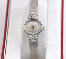 Estate 1960's Ladies Girard Perregaux 14K WG 17J Diamond CT CTW Watch 22.5g Rare