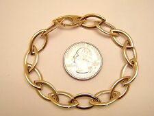 AWESOME! BIG! NEW-14k Yellow Gold MARQUISE LINK Bracelet 6.6gm-LAYAWAY-not scrap