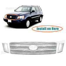 Chrome Front Center Mesh Vent Grille Covers Trim For 2001-2003 Toyota Highlander