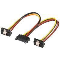 SATA-Y-Stromkabel SATA-Kupplung an 2x SATA-Stecker 90° 0,2m