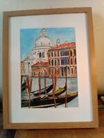 original painting of Venice,12 3/4inx16 3/4in  for sale by artist,framed,signed.
