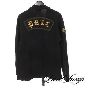 Polo Ralph Lauren Custom Fit Velvet Trim Big Crest Patch PRLC Moto Back Shirt L