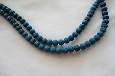 30 Sea Blue-Green 8mm Dyed Natural Lava Beads #3605 Combine Post-See Listing