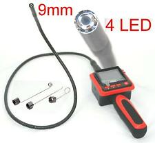 9mm INSPECTION CAMERA Video Borescope Endoscope Conduit Snake Scope New 4 LEDs