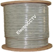 RG6 Siamese Zip Cable Plus Power 1000 ft Spool White Indoor CCTV UL Listed