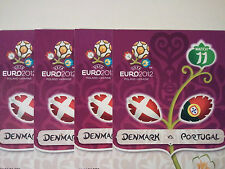 EURO 2012 GROUP B DENMARK vs PORTUGAL, 4 TICKETS CATEGORY 1 ROW 8, JUNE 13, 2012