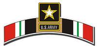 """Army Iraq Veteran Tab Die Cut 5"""" Sticker / Decal"""