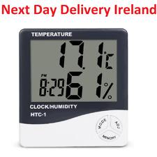 Thermometer Hygrometer Indoor Digital C/F Temperature Humidity Meter Alarm Clock