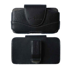 Verizon Leather Side Belt Clip Holster Pouch For Universal Cell Phones - Black
