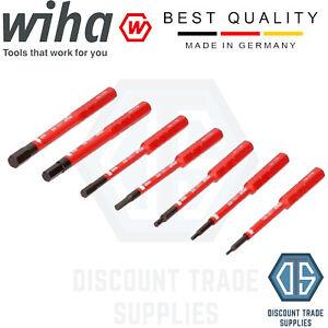 Wiha 38997 VDE Set of 7 SoftFinish Allen Hex Keys Electric Slim Bits 75mm GERMAN