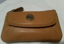 $85.00 Bnwt Stunning Tan B/Card OROTON  Leather Wallet Coin key PURSE