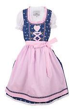 Ramona Lippert® Kinderdirndl Julie, blau rosa - 3-teiliges Trachtenkleid Dirndl
