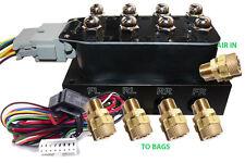 Accu X4 Solenoid Valve Manifold AirRide Suspension Control Wiring Harness/Fit1/4