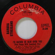 Pop 45 Barbra Streisand - I'D Rather Be Blue Over You / Funny Girl On Columbia