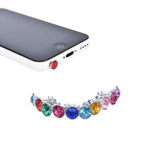 10X Anti Dust Crystal Cap Earphone Jack Plug Stopper For Mobile Phone 10*3.5MM V