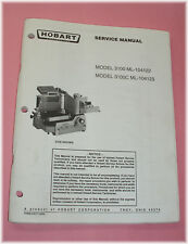 Hobart 3100 Series Commercial Slicer --Factory Service Manual *LOOK*