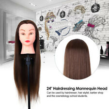 """24"""" Salon Hairdressing Training Practice Dummy Head Mannequin Doll with Clamp"""