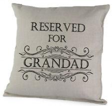 Reserved For Grandad Cushion, Cute Pillow Birthday Christmas Gift Keepsake