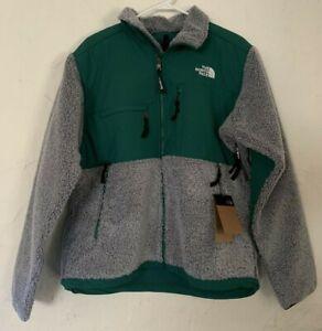 The North Face Denali Berber Fleece Jacket Grey/Evergreen Large NEW! NF0A4QYKU31