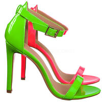 Charlie1 Retro Neon High Heel Dress Sandal - Women Open Toe Evening Party Shoes
