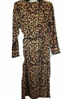 Biba Leopard Print Bohemian Top Black Blouse UK Size 10 *REF61