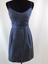 NWT CATHERINE MALANDRINO navy Empire Waist Silk Dress Size 6P    $425.00     c8