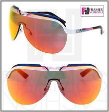 f220eae11ddd CHRISTIAN DIOR SOLAR Orange Pink Blue White Flash Mirrored Metal Shield  Sunglass