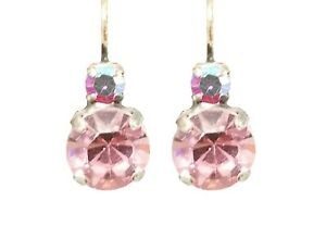 Mariana Crystal Earrings, Large, Light Pink and Dark Pink (E-10376 2230)