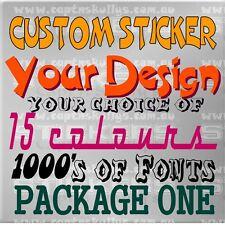 CUSTOM DESIGN STICKER/DECAL PACK 1 - Capt'n Skullys Stickers Online MPN 2004