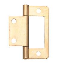 Pair Flush Hinge, for Inset Doors, Length 40 mm, Steel