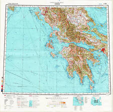 Russian Soviet Military Topographic Maps - ATHENS (Greece) 1:1Mio, ed.1990