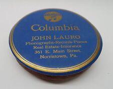 Columbia Phonograph Advertising Record Duster Brush - John Lauro Norristown PA