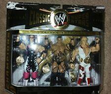 Bret Hart Autographed Signed Jakks WWE Classic Superstars  w/The Rock & Michaels