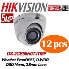 Lot of 12 pcs Hikvision 5MP TURBO HD Outdoor IR Turret Camera 2.8mm fixed lens