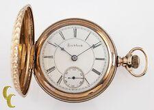 Rockford Full Hunter Gold Filled Antique Pocket Watch Gr 83 18S 15 Jewel